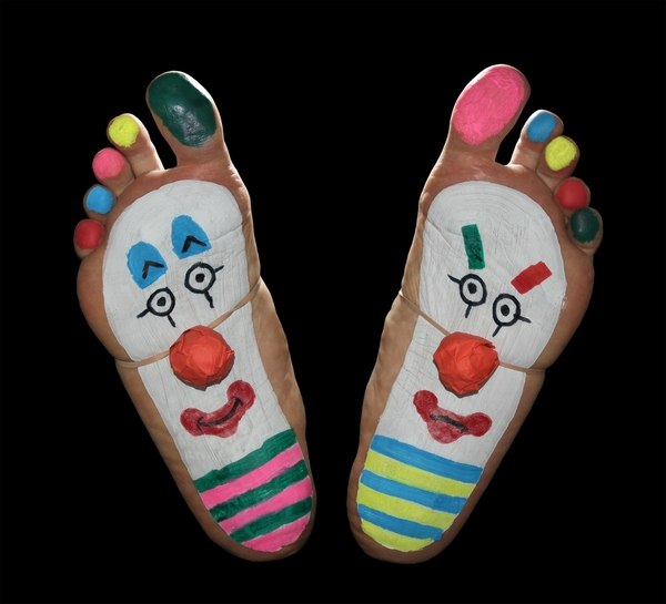 Clown 2: feet, foot, toes, soles, painted, fun, funny, Clown,