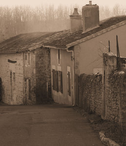 Cottages: Cottages in the old village of Chateau Larcher in the Vienne dept. of SW France. Converted to Sepia but have in colour also