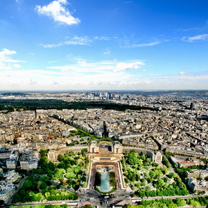 View from Eiffel tower: No description
