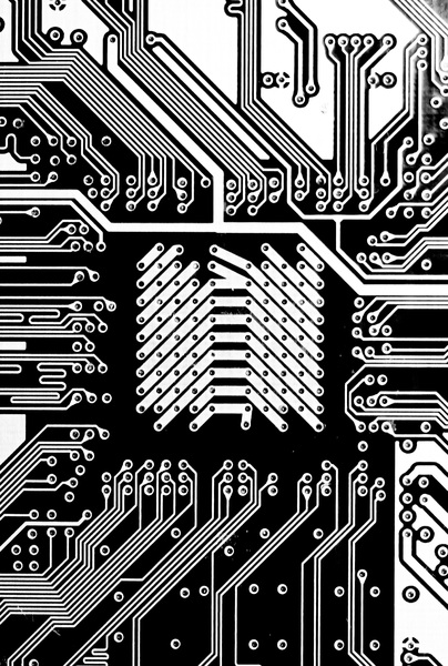 electronics: graphic card circuit board