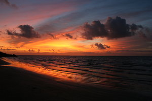 Fabulous Sunrise: Texas Coast prepares to meet Hurricane Emily 7-19-05.