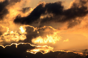 Fire in the Sky: Clouds at sunrise on 1-9-2009- Seabrook, Texas