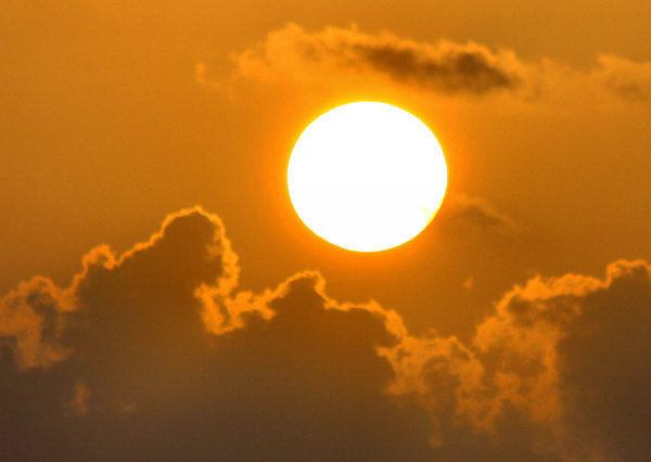 Golden Hazy Sunrise: