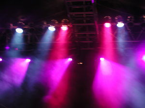Stage lighting 1: Stage lighting at a public concert of acid jazz