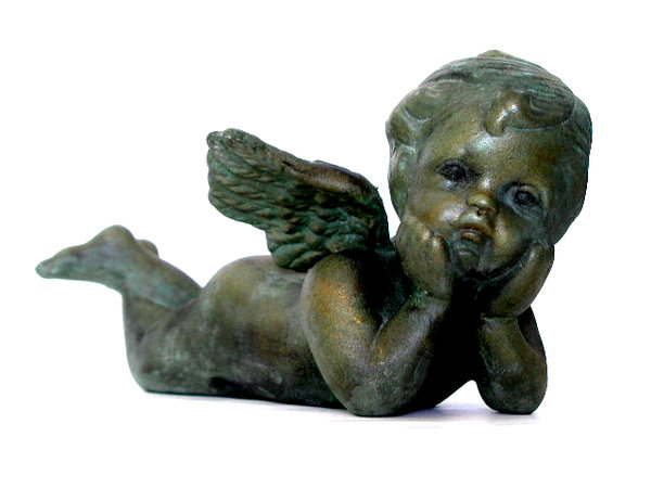 Someone is looking at you...: A metal angel... heaviness and lightness.