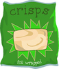Bag of Crisps: A bag of crisps clipart.