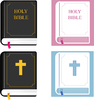 Bible Clipart: Holy bible clipart set.