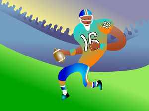 American Football: American football player illustration.