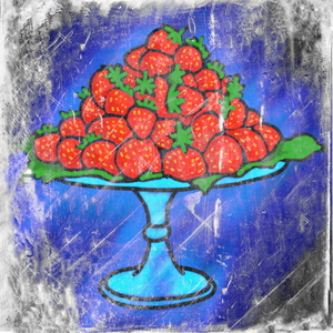 Strawberries: A platter of strawberries.