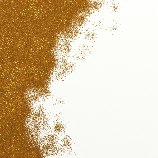 Gold Glitter: Gold glitter paint texture page border.