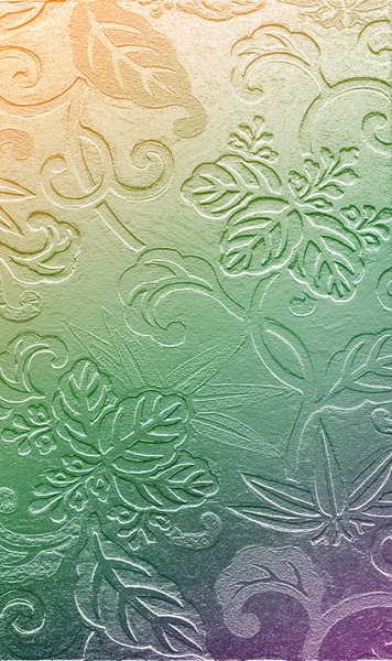 Wallpaper Texture: Embossed floral wallpaper texture.