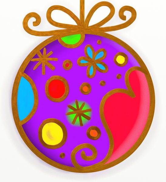 Christmas Bauble: Christmas bauble doodle.