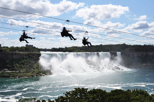 Zip wire: New zip wire towards Niagara Falls