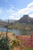 canary lake: canary island - lake in the inside