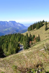 mountainroad: view from berchtesgaden (bayern) to salzburg city (austria)