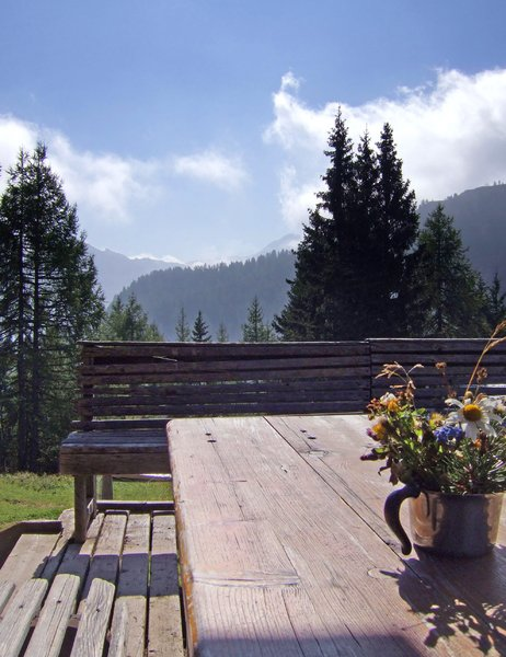 have a break: rest - after a hike in the mountains in wagrain, austria