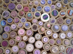 buttons pink: Buttons on a market