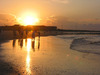 Golden sunset on Tybee: This is where couples get married, you can see why. A golden moment