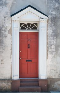 Neo-classical doors: Neo-classical doors of the late 18th and early 19thC from Charleston, South Carolina, USA. Shot in direct or filtered sunlight at noon