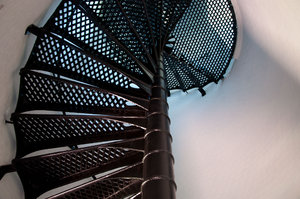 Spiral Iron Staircase: With open ironwork, contructed around 1850, Jupiter Lighthouse, Jupiter, FL