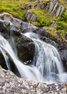 Catt Bells Waterfalls: waterfalls on on the south side of catt bells in the lake district