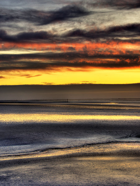 the bay: morecambe bay given a light hdr treatment