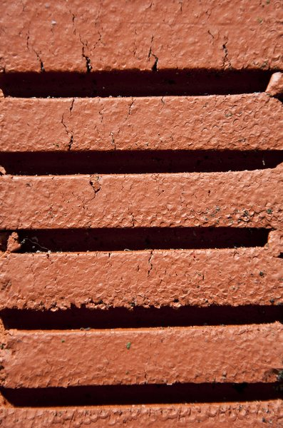 red brick: image of a red brick out of my garden