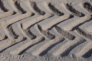 Truck track: Truck track on the beach