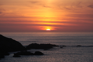 Sunset over the ocean 2: Sunset over the ocean in Coruña city