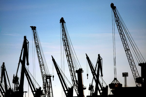 Cranes: Cranes in the Port of A Coru�a (Galicia, Spain, EU)