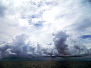 Equatorial Storm: Bad weather at the equator, south of Sri Lanka, Indian Ocean