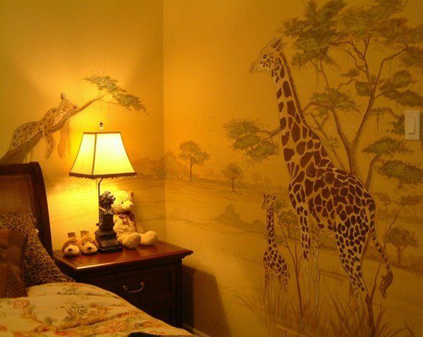 Warm Glow: This mural was done(by me) in a child's room