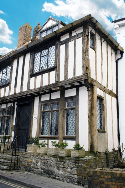 House in Rye: Wooden framed house in Rye, East Sussex. England.