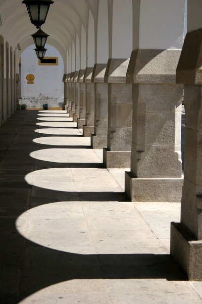 Walkway with Columns: Walkway with Columns in Evora, Portugal