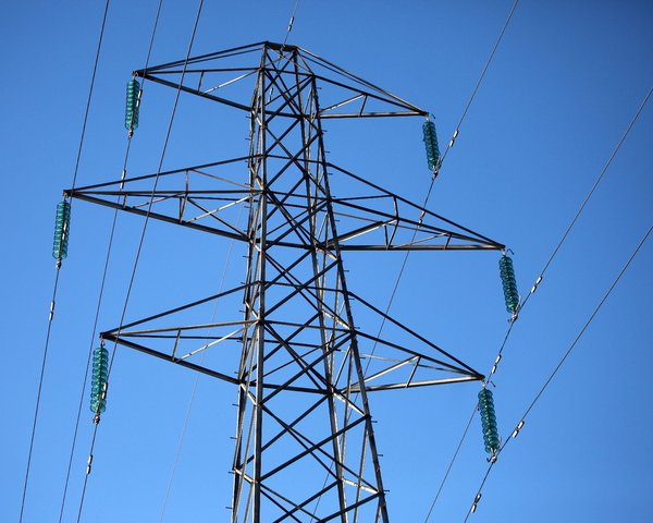 Electricity Pylon: Electricity Pylon against blue sky