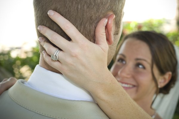 The happy couple.: Minutes after tying the knot.