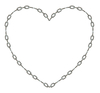 Chain Heart: a chain heart shape.