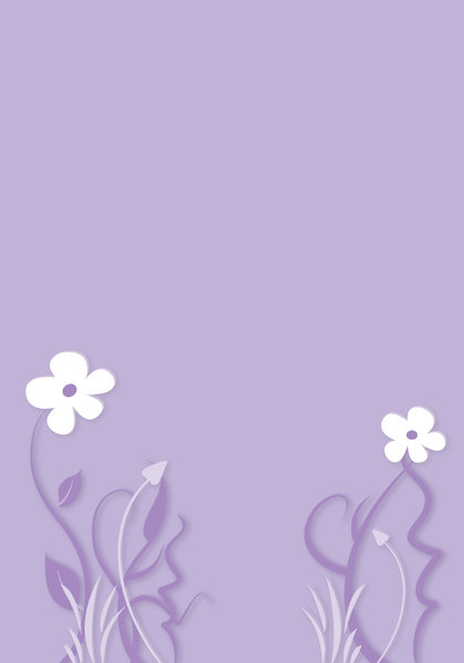 Simple flower background: Abstract background illustration with floral elements