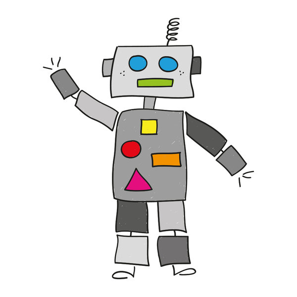 Robot: Drawing of a rather cute little robot