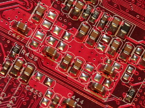 circuit city 1: Close-up of circuits.