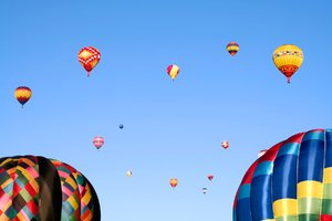 Hot Air Balloons: Hot air balloons in flight.