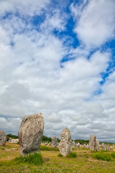 Carnac Stones - HDR: Ancient Celtic stones from Carnac in Brittany, France. HDR composite from multiple exposures.