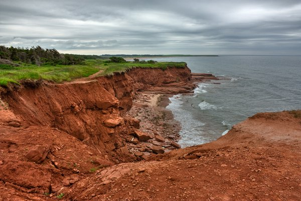 PEI Coastal Scenery - HDR: Coastal scenery from Prince Edward Island, Canada. HDR composite from multiple exposures.