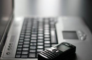 Keyboard and mobile phone: