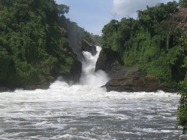 waterfall: photo taken in Uganda