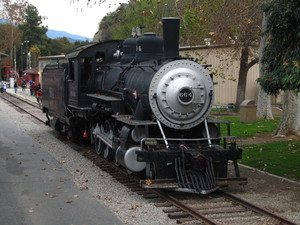 Steam engine: Steam locomotive at Travel Town, Los Angeles, California