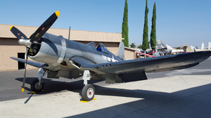 F4U-1A Corsair -1: The F4U Corsair was an American fighter aircraft that saw service primarily in World War II and the Korean War.