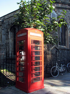 British Phone Box 2: Photos taken in Cambridge (England)