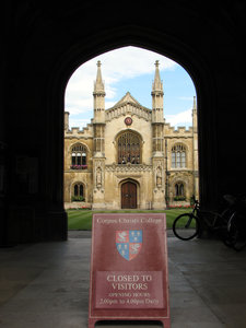 Cambridge, England 4: Corpus C: http://www.corpus.cam.ac. ..Corpus Christi College is one of the ancient colleges of the University of Cambridge. Founded in 1352 by the Guilds of Corpus Christi and the Blessed Virgin Mary, it bears the distinction of being the only College in Oxford or