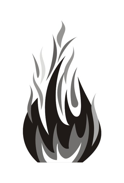 Flame 6: Fire Graphics : Greyscale